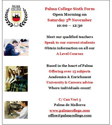 Open Morning 5th November