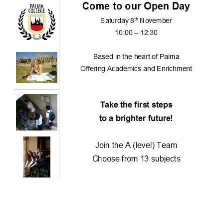 Come to our Open Day